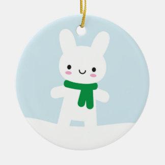 Snow Bunny & Bear - Double Sided Christmas Ornament