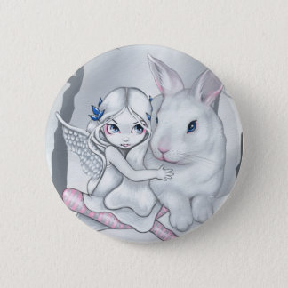 """Snow Bunny"" Button"