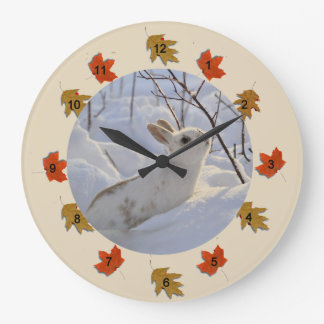 Snow Bunny Large Clock