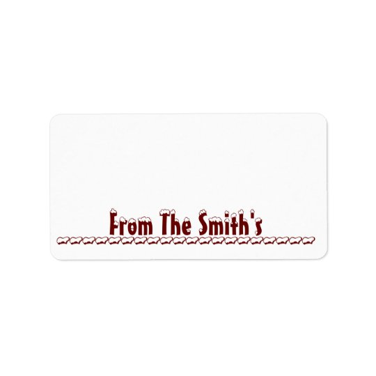 Snow Capped Hammett - Red - Gift Tag Labels