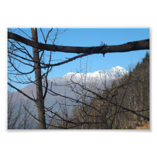 Snow Capped Mountain Photographic Print