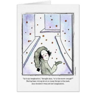 SNOW cartoon by Ellen Elliott Greeting Card