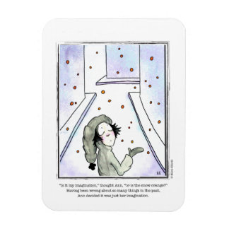 SNOW cartoon by Ellen Elliott Rectangular Photo Magnet