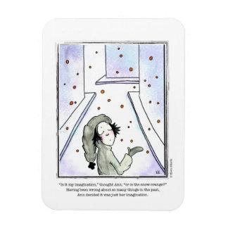 SNOW cartoon by Ellen Elliott Rectangular Photo Magnet