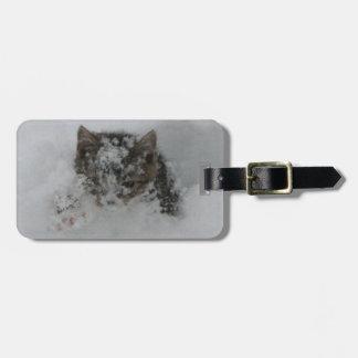 Snow Cat Luggage Tag