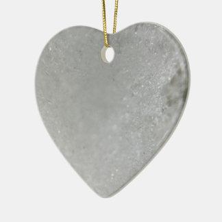Snow Ceramic Heart Decoration