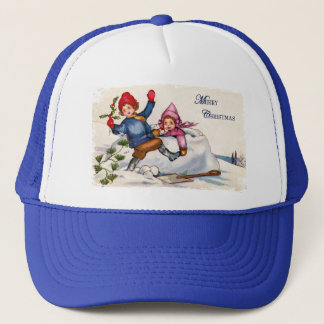 Snow Children Christmas Hat