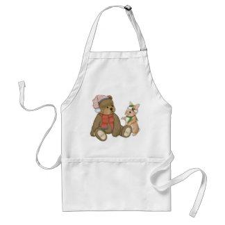 Snow Christmas Teddy and Bunny Standard Apron