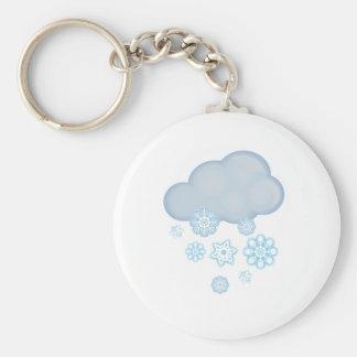 snow cloud keychains