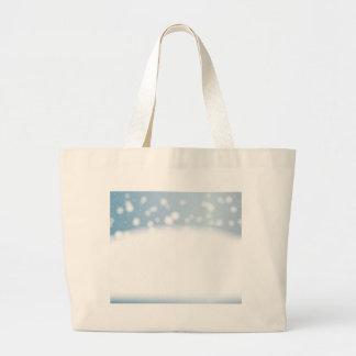 Snow Copy Space Large Tote Bag