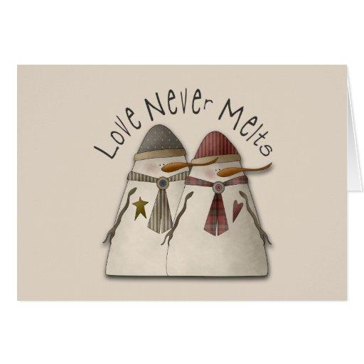Snow Couple Cards
