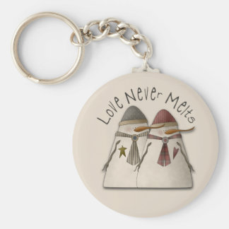 Snow Couple Key Ring
