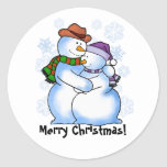 Snow Couple Merry Christmas Stickers