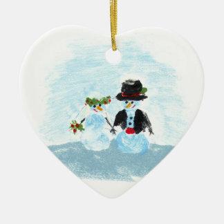 Snow Couple Ornament