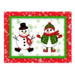 Snow Couple Postcard