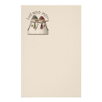 Snow Couple Stationery