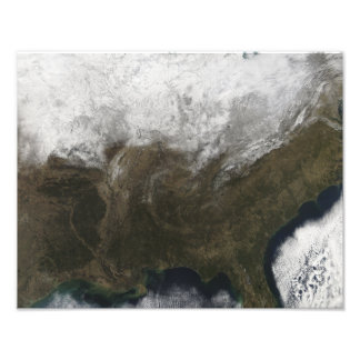 Snow cover over the United States Photo Print