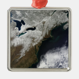 Snow cover stretching from Canada Christmas Ornament