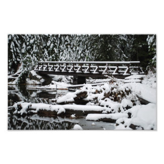 Snow Covered Bridge Photograph