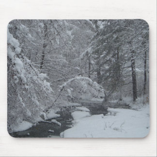 Snow covered brook mouse pad