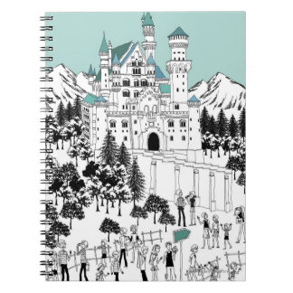 Snow Covered Castle Spiral Notebook