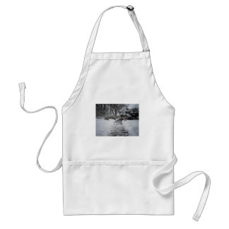 Snow Covered Central Park NYC Landscape Adult Apron
