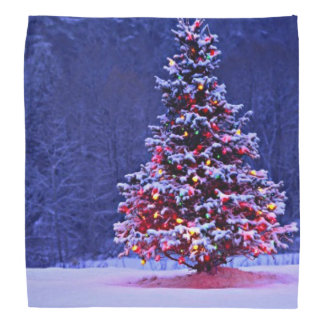 Snow Covered Christmas Tree Bandana