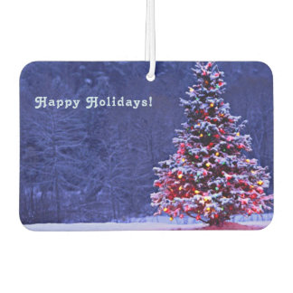 Snow Covered Christmas Tree Car Air Freshener