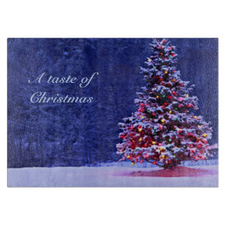Snow Covered Christmas Tree Cutting Board