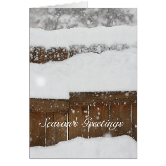 Snow Covered Fence Card