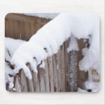 Snow Covered Fence Mousepad