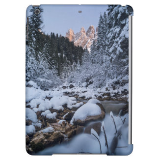 Snow-covered Geisler Mountain Range