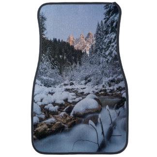 Snow-covered Geisler Mountain Range Car Mat
