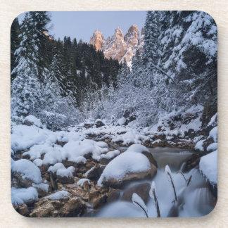 Snow-covered Geisler Mountain Range Coasters