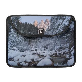 Snow-covered Geisler Mountain Range MacBook Pro Sleeves