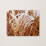 Snow Covered Grass Jigsaw Puzzle