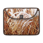 Snow Covered Grass MacBook Pro Sleeves