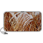 Snow Covered Grass Notebook Speaker