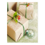 Snow Covered Holiday Gifts Post Card