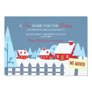 Snow Covered Homes Moving Announcement