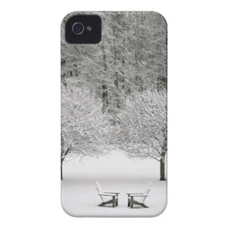Snow covered landscape iPhone 4 covers
