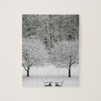Snow covered landscape jigsaw puzzle