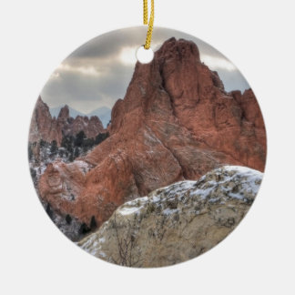 Snow Covered Monoliths 01 Christmas Ornament