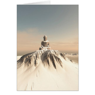 Snow Covered Mountain Buddha Card