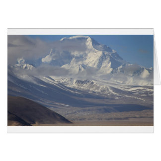 Snow Covered Mountain in the Background Card