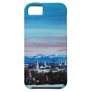 Snow Covered Munich Winter Panorama With Alps Case For iPhone 5/5S