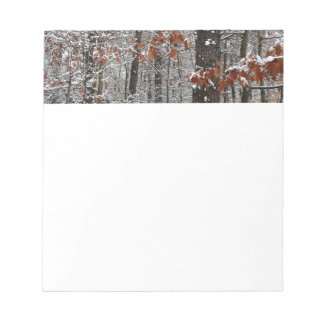 Snow Covered Oak Trees Winter Nature Photography Notepad