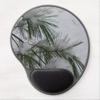 Snow Covered Pine Needles Gel Mouse Pad