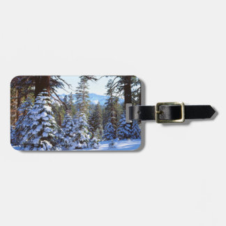 Snow-covered Red Fir trees in the High Sierra 2 Luggage Tag