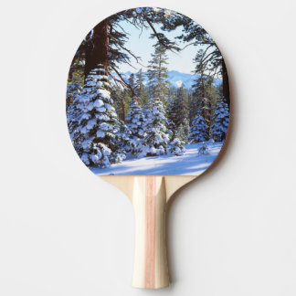 Snow-covered Red Fir trees in the High Sierra 2 Ping Pong Paddle